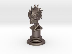 Alien-03 in Polished Bronzed Silver Steel