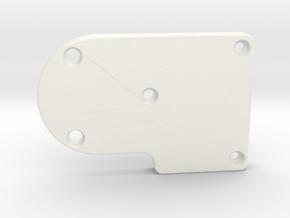 DJI Phantom 3 Gimbal Replacement Yaw Arm Cover in White Processed Versatile Plastic