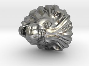 Lion Ring in Natural Silver