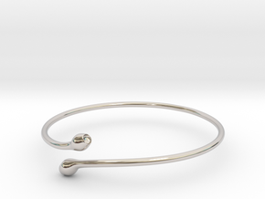 Bracciale08 in Rhodium Plated Brass