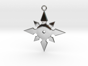 Star Pendant (MK9) in Fine Detail Polished Silver