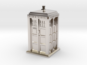 35mm/O Gauge Police Box in Rhodium Plated Brass