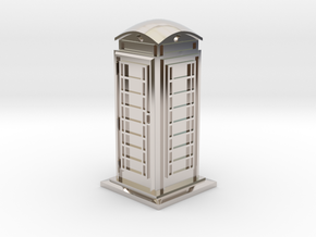 35mm/O Gauge Phone Box in Rhodium Plated Brass