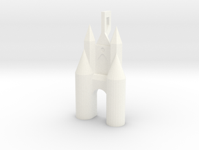 earring - Gate of Amsterdam in White Processed Versatile Plastic