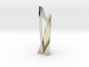 1:48 Harp in Rhodium Plated Brass