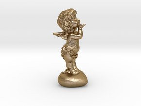Cupid Figurine in Polished Gold Steel