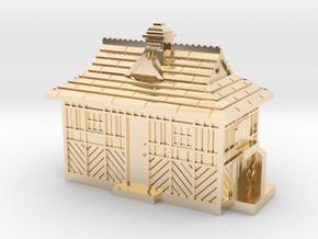 N Gauge - Cabmen's Shelter  in 14k Gold Plated Brass
