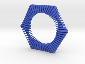 Floors Bracelet 02 in Blue Processed Versatile Plastic
