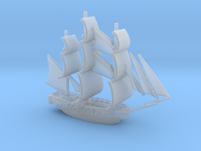 HMS Surprise ~1/1000 scale in Smooth Fine Detail Plastic