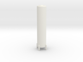 N Scale Cryogenic Tank ø12-55mm in White Natural Versatile Plastic