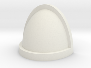 Customisable shoulder pad with edge in White Natural Versatile Plastic