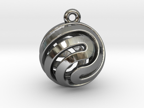 Ball-small-14-2 in Fine Detail Polished Silver