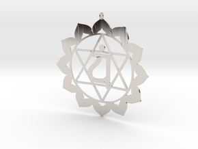 Heart Chakra Necklace in Platinum