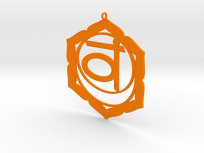 Sacral Chakra Necklace in Orange Processed Versatile Plastic