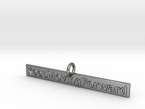 KeepMovingForward in Fine Detail Polished Silver