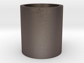Monopoly Mug Custom Peice in Polished Bronzed Silver Steel