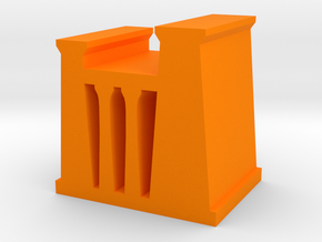 Game Piece, Egyptian Temple, Palace in Orange Processed Versatile Plastic