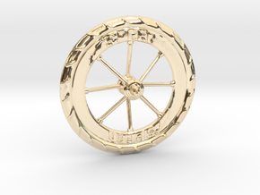 Pocket highway wheel set in 14k Gold Plated Brass