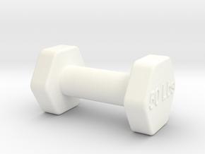 Monopoly Weight Custom piece in White Processed Versatile Plastic