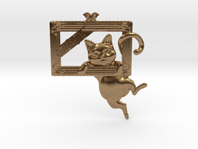 Mona Cat - Featured exclusive cat -Slight fat ver. in Natural Brass