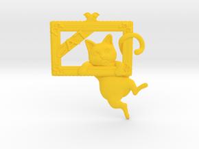 Mona Cat - Featured exclusive cat -Slight fat ver. in Yellow Processed Versatile Plastic