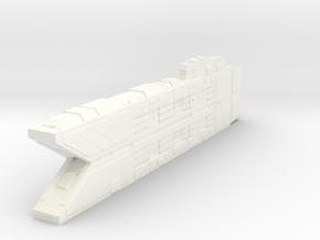 Space Command Ship Concept - Raiden in White Processed Versatile Plastic
