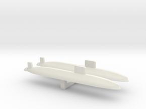 Trafalgar Class SSN x 2, 1/2400 in White Strong & Flexible