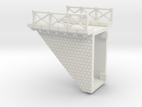 NV3M10 Small modular viaduct 1 track in White Natural Versatile Plastic