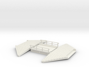 NPTR5 Railway bridges on road in White Natural Versatile Plastic