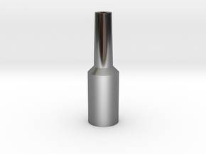 Euphonium Mouthpiece Resistance Tool in Fine Detail Polished Silver
