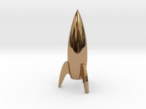 Monopoly Spaceship Custum Piece in Polished Brass