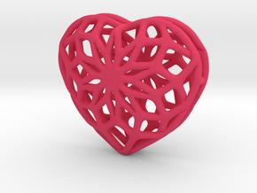 Valentine Heart - Big in Pink Processed Versatile Plastic