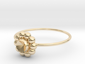 Size 10 Shapes Ring S6 in 14k Gold Plated Brass