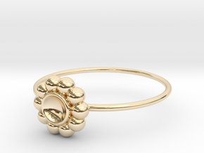 Size 10 Shapes Ring S5 in 14k Gold Plated Brass