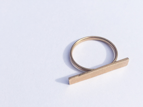 Customizable Space ring (Large) in Natural Bronze