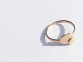 Double O ring (Large) in Natural Bronze