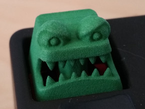 Monster Cherry MX Keycap in Green Processed Versatile Plastic