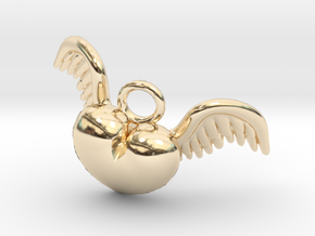 Cupid Heart in 14k Gold Plated Brass