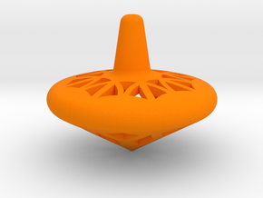 Medium Spin Top in Orange Processed Versatile Plastic