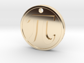 PI Pendant in 14k Gold Plated Brass