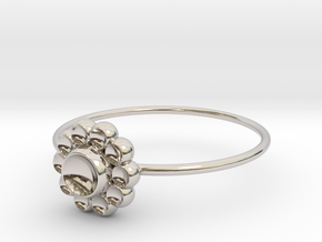 Size 9 Shapes Ring S4 in Rhodium Plated Brass