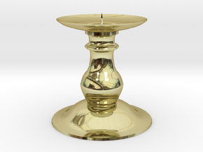 Candle Holder 2 in 18k Gold Plated Brass