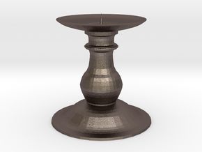 Candle Holder 2 in Polished Bronzed Silver Steel