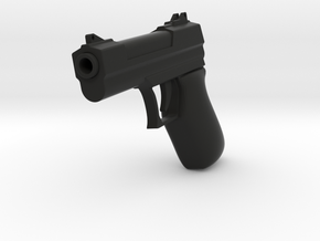 Pistol Toy 9mm in Black Natural Versatile Plastic