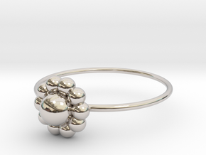 Size 6 Shapes Ring S3 in Rhodium Plated Brass