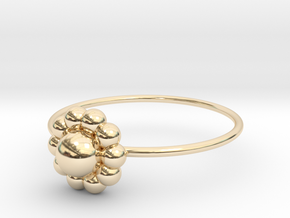 Size 10 Shapes Ring S3 in 14k Gold Plated Brass