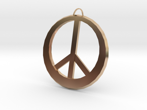 Peace Sign in 14k Rose Gold