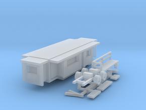 Wohnwagen Kasten 10m 1:220 (Z scale) in Smooth Fine Detail Plastic