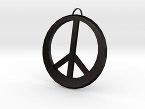 Peace Sign in Matte Black Steel