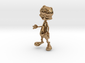 Toon Alien in Polished Brass
